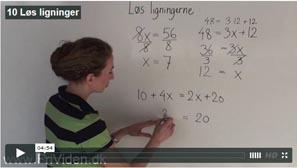 10 Løs ligninger