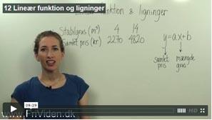 lineær funktion koordinatsystem