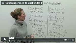 20 To ligninger med to ubekendte